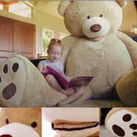Wholesale cm New Teddy bear skin Giant Luxury Plush Extra Large Teddy Bear cost Dark Brown Light Brown