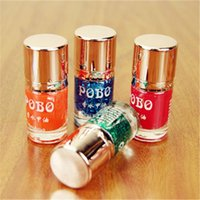 best bottle brands - Best Selling POBO brand D2415 Round bottles Perfume nail polish Green color light oil nail enamel