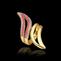 angle bars sizes - FG Size New Arrival K Gold Plated Tin Alloy Color Angle Wing Ring