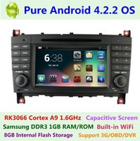 Wholesale Pure Android Dual Core A9 for Mercedes Benz C Class CLK W203 C230 C240 C280 Car DVD GPS Navigation Radio G WIFI