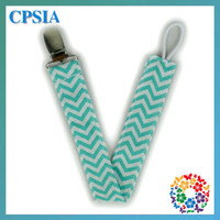 Wholesale 200pcs Hot sale cm waves baby pacifier clip holder baby feeding cotton pacifier clips in stock