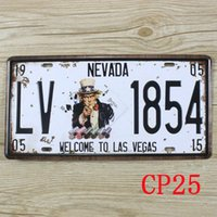 Wholesale CP25 Nevada Vintage Metal Tin Signs License Plate Bar Pub Cafe Home Art Metal Signs Size about cm