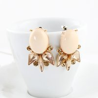 Wholesale Kayshine New Cheap Jewelry Stud Earrings Lovely Pink Created Gemstone Brincos Pequenos Women