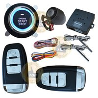 passive lock car security system - Hot selling smart car security system passive keyless entry auto lock or unlock car door push button start stop CE passed