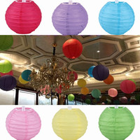 christmas paper lantern - Hot Sell Chinese Paper Lantern Wedding Party Christmas DIY Decoration Assorted quot cm Round Lanterns ZWZ