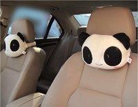auto ems - by EMS Cute Cartoon Panda Head Pillow Car Headrest Auto Neck Pillow Pair Gift Novelty Item