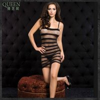 Cheap black sexy sleep dresses women dresses lingerie sexy set one-piece dress for women without underpants free shipping
