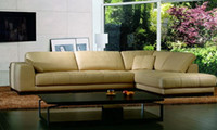 genuine leather sofa - Corner sofa in leather Modern Sofa Set new Design American Style L Shaped Genuine Leather corner sofas Set L9058