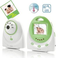 Wholesale 2 G Digital Baby Monitor Wireless Intercom Voice Alarm Inch LCD Video Camera Monitors Support Night Vision dry battery