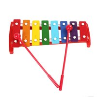 Wholesale 8 Note Aluminum Plate Musical Colorful Piano Removable Percussion Xylophone MIA_651
