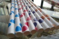 Wholesale New arrival paper straw high qulity paper straws drink straws colors option