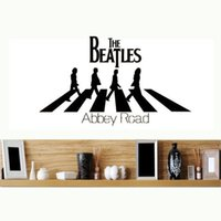 abbey road vinyl - The Beatles Abbey Road Wall Sticker Home Decor Banksy Bedroom Room Decoration Wall Stickers