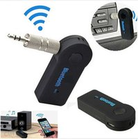 Wholesale 3 mm Hands free Wireless Bluetooth V3 Stereo Audio Music Receiver with Mic for Car AUX Home Audio Mini Bluetooth Car Kit
