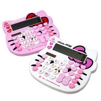 Wholesale Hello Kitty Calculator Office And School Electronics Solar Energy Battery