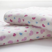 Wholesale Are full of love Foreign Students Children cotton knit single or double air conditioned cool in summer siesta blanket thin qui
