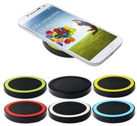 Wholesale Mini Round Type Qi Standard Wireless Mobile Phone Charger Wireless Charging Panel Charging Pad Transmitter