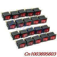 Wholesale 50Pcs Pin AC A V A V Red Light ON OFF SPST Snap in Boat Rocker Switch