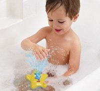 Electronic 13-24 Months Children's Day Baby Toys in Bathroom The Most Popular Water Spraying Tool With Electric Bath Toys Starfish Swimming Toys Kids Gift T1092