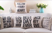 best love seat - Vintage Style English Letters LOVE TODAY IS A GIFT BEST DAY EVER Cushion Covers Decorative Linen Cotton Pillow Cover Sofa Seat Pillow Case