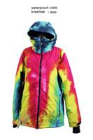 Wholesale NEW ARRIVE RAINBOW GRENADE Series Snowboard Clothing Men Ski Jacket Plze Size Loose Style snowbaord jacket