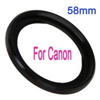 camera filter lens adapter - 58mm Lens Filter Adapter Ring for Canon G1X Camera FA DC58C Black Drop Shipping