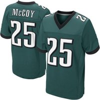Football Men Short Cheap #25 McCoy Jersey Midnight Green American Football Jerseys Brand Cheap Football Uniforms Elite Men Jerseys 2014 Hot Sale Sports Wear