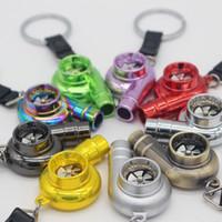 Wholesale 2015 year Turbo Keychain Creative Fashion Fans Favorite Sleeve Bearing Turbine Turbocharger Keyring Key Chain Ring Keyfob allowing you to ha