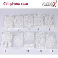 plastic flower - CUte phone CASE Apple iphone S S PLUS S Henna White Floral Paisley flower mandala Plastic Hard back