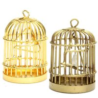fairy furniture - Gold Mini Dollhouse Furniture Birdcages Childrens Toys Cabin Model Dream Fairy House Home Decoration