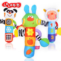 bb bars - Book cloth rabbit roll bar teethers rattles bb device baby toy