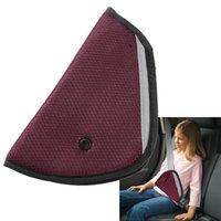 Wholesale 8 Color car Safe Fit Seat Belt Adjuster car safety belt adjust device baby child protector positioner Breathable