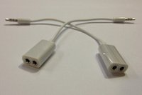 Wholesale 3 mm Double Jack Headphone Splitter For iPod iPhone S iPad2 Digital Audio Cables Earphone Splitter