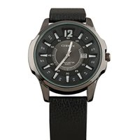Wholesale CURREN Men s Military Watches Men s Leather Strap Sports Watches Meter Waterproof