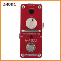 Wholesale New Arrival AROMA AGF G FUZZ Vintage Germanium Fuzz Guitar Effect Pedal Mini Analogue with True Bypass