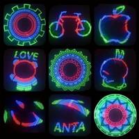 bicycle wheel images - Hot Wheels Bicycle lights mountain wheel Double Side display DIY Designs Patterns Rim Lighting RGB Download love image