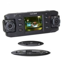 Wholesale 2015 High quality GPS G sensor Dual Lens Car Dvr Camera Two Lens Vehicle DVR Dash Recorder