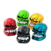 Wholesale New Auto Shift Knob Refires Knob Skull Head Gear Cool Wave Stick Head Automobile Race Gear Head Car Stalls Head