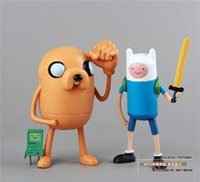 Wholesale Adventure Time With Finn Jake Stretchy Finn Jake PVC Action Figure kids Toys gift child cm