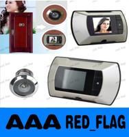 Wholesale 100 Door Eye Doorbell inch LCD digital wireless door video camera security door peephole monitor video LLFA713F