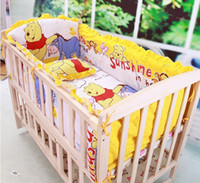 Wholesale Baby bedding set Little bear crib bedding set cotton bedclothes bed decoration include pillow bumpers mattress