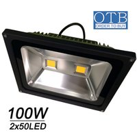 Wholesale 100W LED flood light x50W AC85 V V Ip65 waterproof Floodlights bright outdoor lighting DHL shipping Free