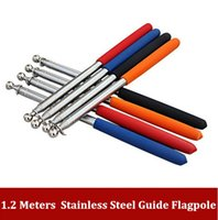 Wholesale 1 meters stainless steel guide flagpole thicken stainless steel command teaching stretch teacher pointer order lt no track