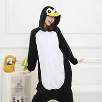 Wholesale 2015 Autumn spring winter flannel animal pajamas one piece penguin pajamas penguin onesie pijama de animais pijama entero mujer cosplay