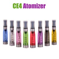 ce4 atomizer - Ecig tanks Electronic Cigarette ego ce4 Atomizer vaporizer tanks ml eGo T CE4 Cartomizer Black drip Tips E cigarette Clearomizer