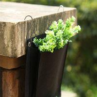 Wholesale Romantic design Home Garden Hanging Pockets Planting Bags Flower Pots Planter Vertical Outdoor Indoor Planter cm
