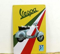 Wholesale VEAPA Motorcycle metal poster Motorcycle style Tin Signs Decor Home Club Bar x12 inch x30cm MO12