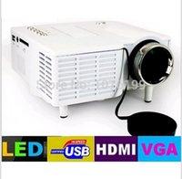Wholesale UC28 Black White HD P LED Multimedia mini TV Projector LCD Home Cinema Theater AV VGA HDMI USB SD Super Projectors