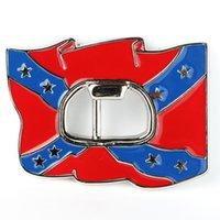 Wholesale Confederate Flag Rebel Flag Bottle Opener Metal Belt Buckle