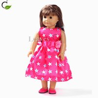 american doll shoes - Handmade girl Doll clothes and accessories princess of stars printed sleeveless dresses Fit inch American Girl doll