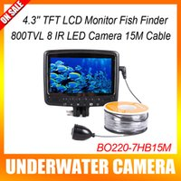 arrival color lcd - 2015 New Arrival IR LED TVL Color LCD Monitor Underwater Ice Video Fishing Camera System m Cable Visual Fish Finder
